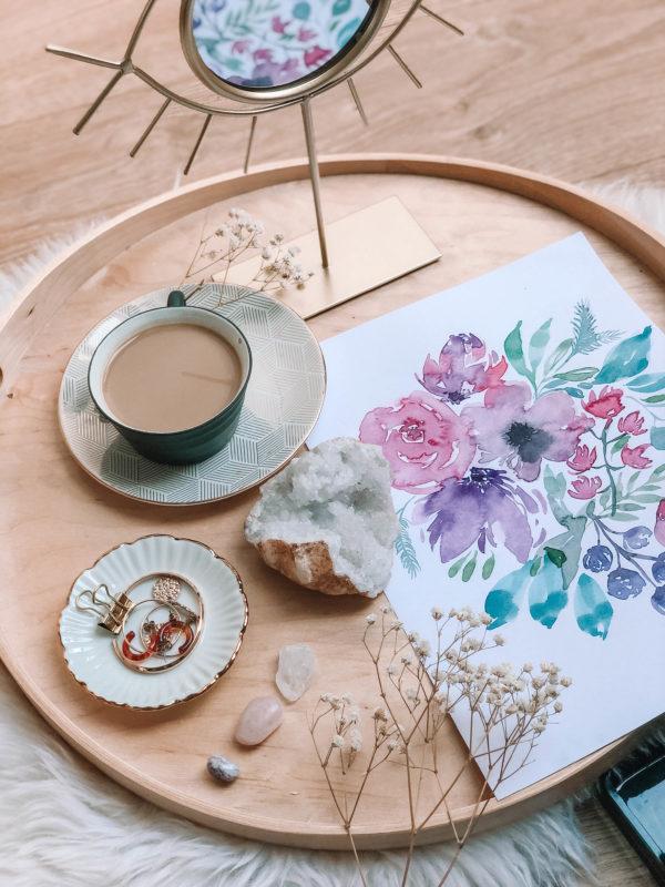 Lilacs– A4 akvarell festmény