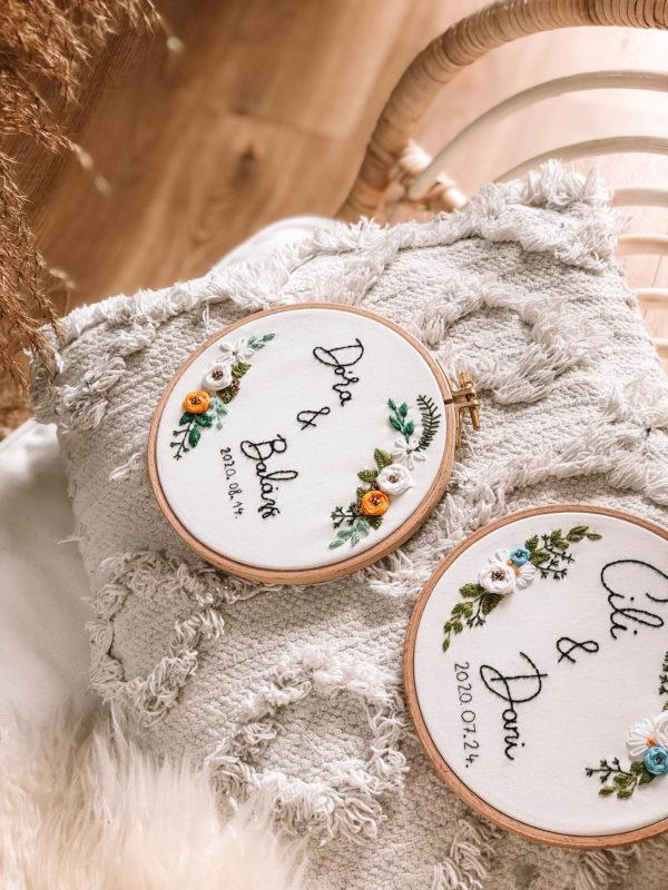 Szerelmespár - esküvői hímzés
