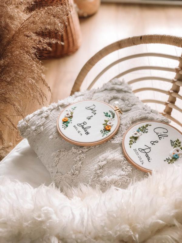 Szerelmespár - esküvői hímzés - Artgarden