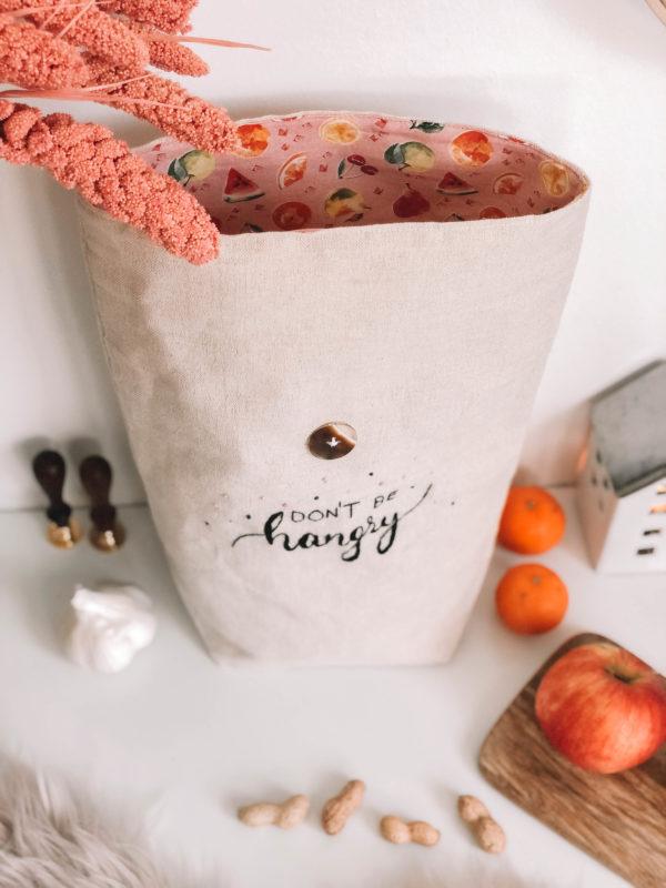 Hangry - Kézzel hímzett len táska